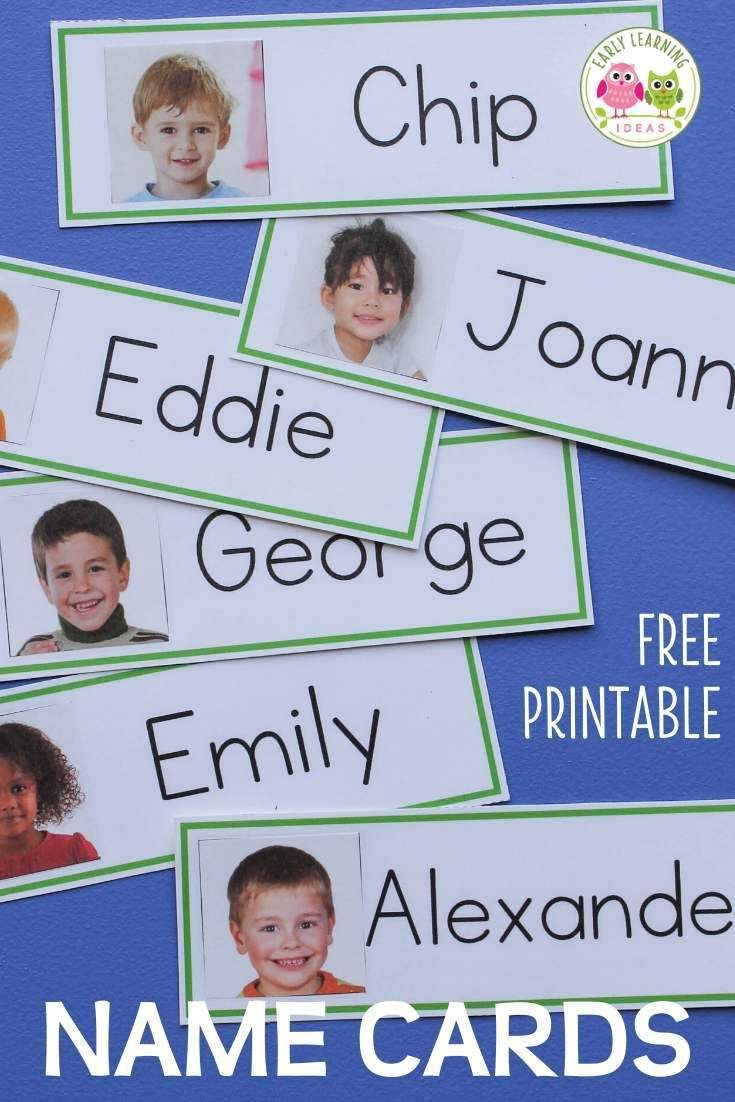 Name Cards Make Name Cards For Your Word Wall Name Cards Word Family Activities Word Wall Kindergarten