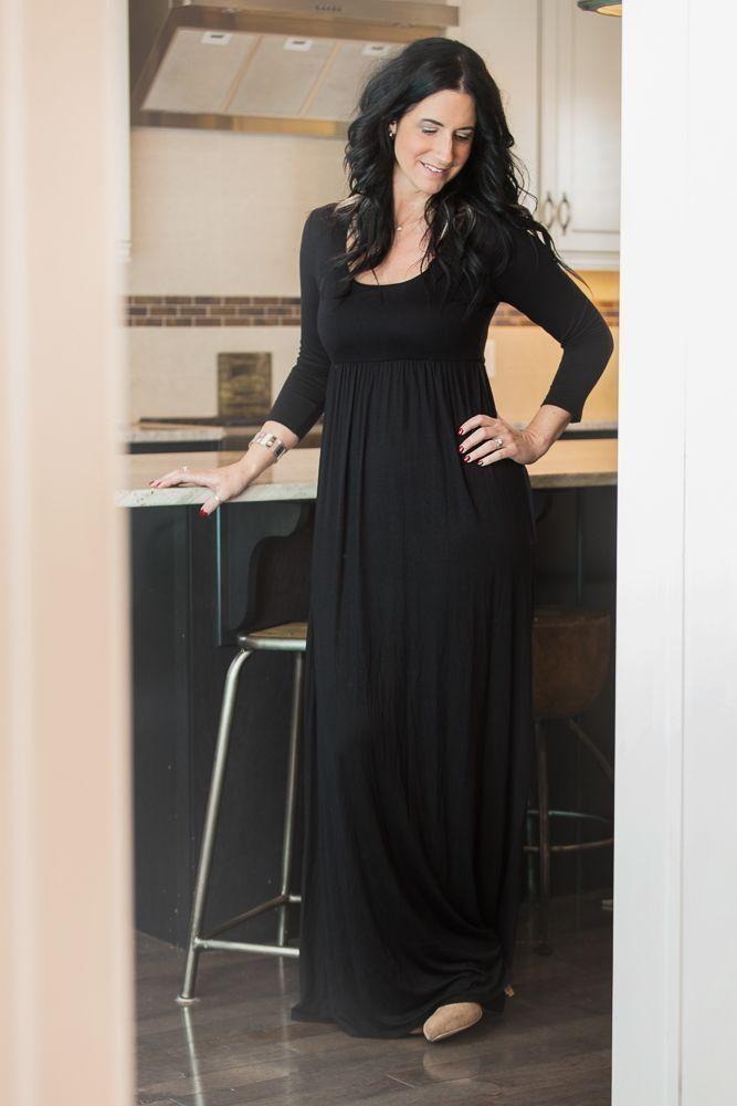 Image of Empire Waist Maxi Dress - Black