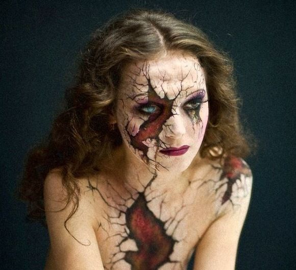 Broken doll Halloween makeup. So cool! LX
