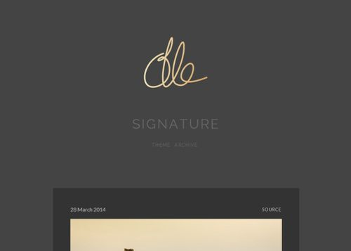 Signature | Olle Ota Themes