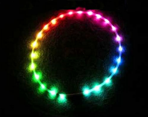 Upcoming new invented D3 Led Huula Hoop with motion controlled programmed LED light system. Soon available from:www.skyliteshop.com