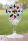 knight globblets- buy jewels at oriental trading. Kids can decorate their plastic goblets. Ms. R liked this idea.