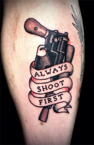 25 best ideas about pistol tattoos on pinterest pistol for Revival tattoo and piercing