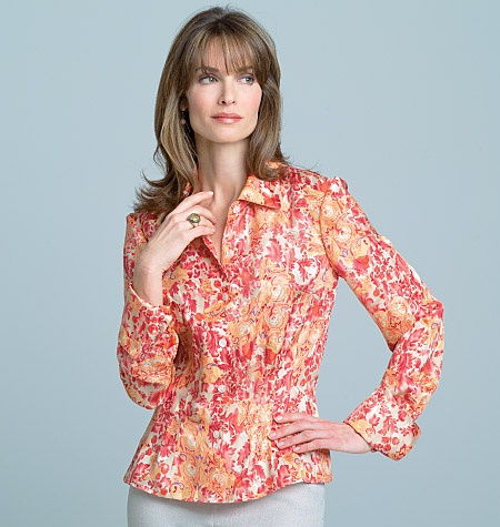 V7903 - I like the darting and the sleeve detail of this blouse.  Another project for fall 2012.