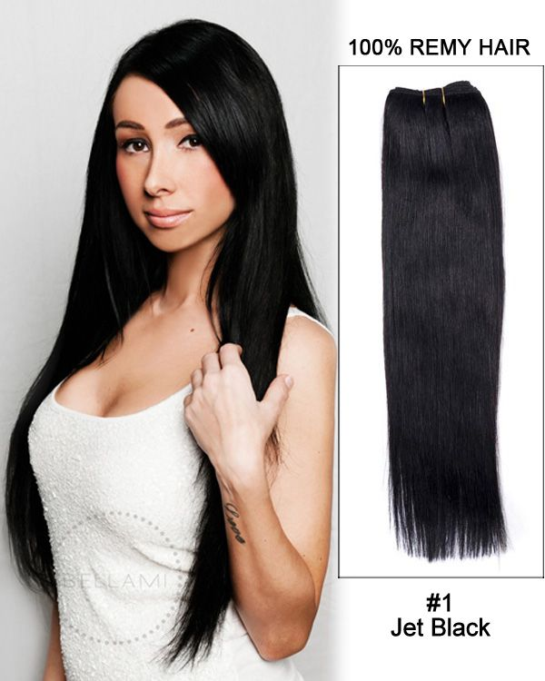 18 Inch Jet Black Hair Extensions Prices Of Remy Hair