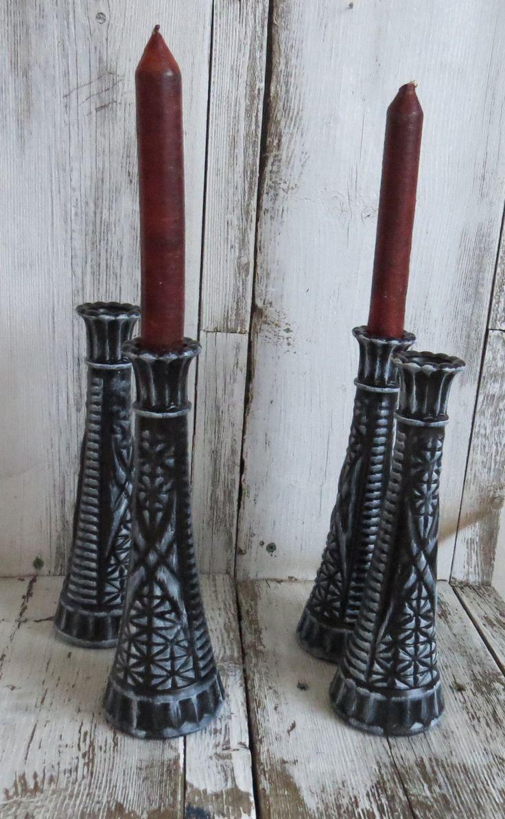 Black flower vases, black and white decor, black candle holder, unique candle holder,  black wedding decor, black and white wedding, by ChippedPaints on Etsy