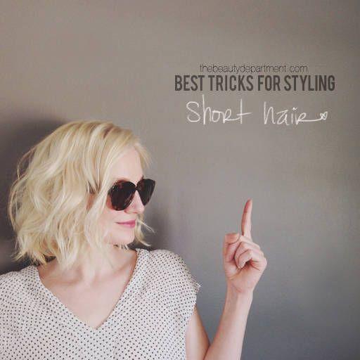 tips for short hair the beauty dept