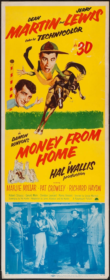 """Movie Posters:Comedy, Money from Home (Paramount, 1954). Insert (14"""" X 36"""") 3-D Style.Comedy.. ... Image #1"""