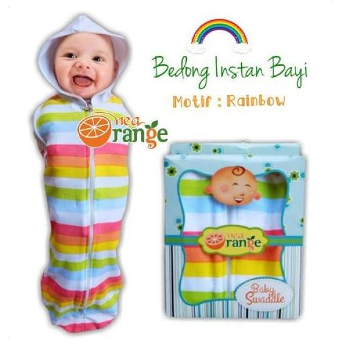 Swaddle Bedong Instan Baby Orange Rainbow - http://www.adorababyshop.co/jual/swaddle-bedong-instan-baby-orange-rainbow/