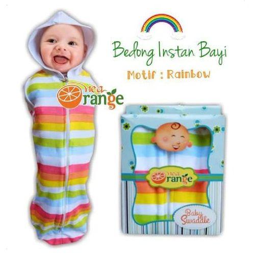 Swaddle Bedong Instan Baby Orange Rainbow - http://www.adorababyshop.co/jual/swaddle-bedong-instan-baby-orange-rainbow/