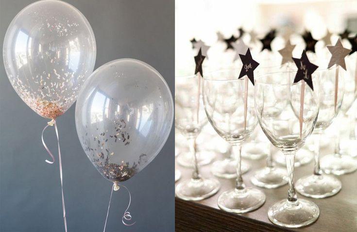 Nyårsafton måste inte vara stora fyrverkerier, hummer och champagne. Här är 11 sätt att dekorera en härlig fest med enkla medel.