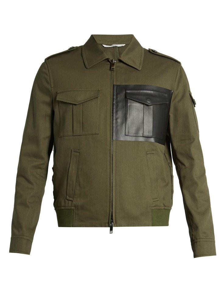 Faux-leather pocket cotton-twill jacket | Valentino | MATCHESFASHION.COM UK