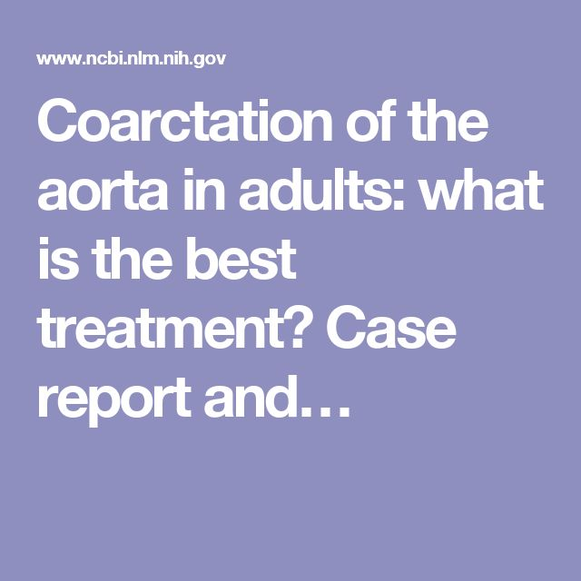 Coarctation of the aorta in adults: what is the best treatment? Case report and…