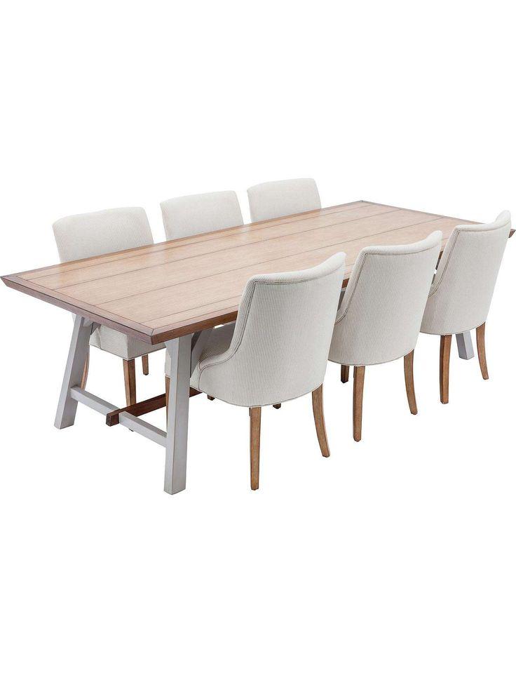 Beautiful Deauvile Dining Table White Oak/Angel Blue Beige | David Jones Good Looking