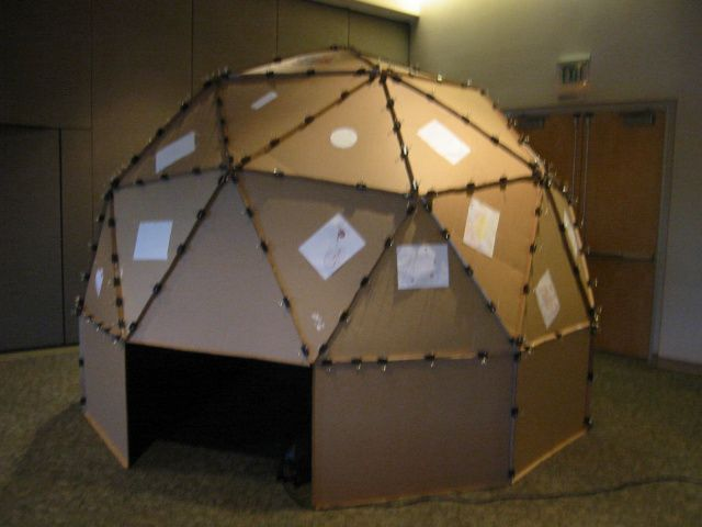How to make a high quality home/classroom planetarium using cardboard and a digital projector.