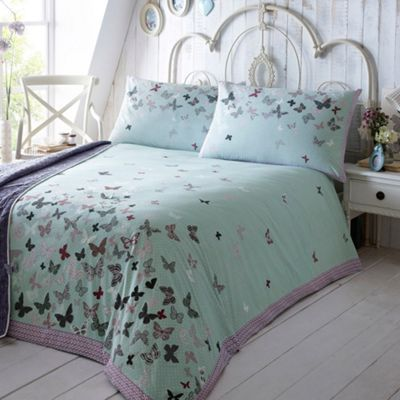 At home with Ashley Thomas Aqua  Libby  bed linen  at Debenhams ie. 127 best BEDDING images on Pinterest   Bed linens  Debenhams and