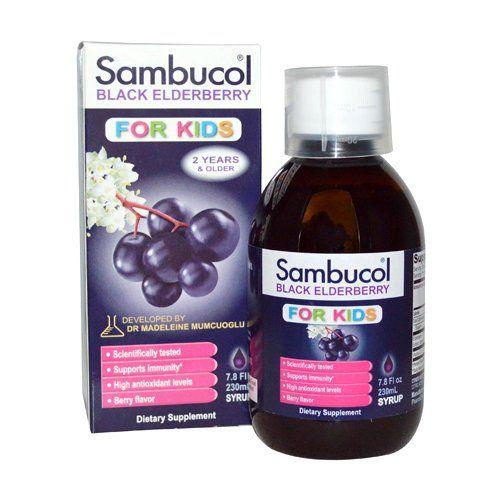Sambucol Black Elderberry Syrup for Kids 7.8 Fluid Ounce