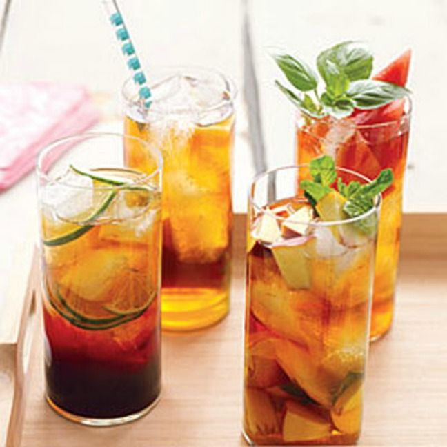 Make your own iced tea with LOADS of fabulous flavour combos you could try…less the sugar!