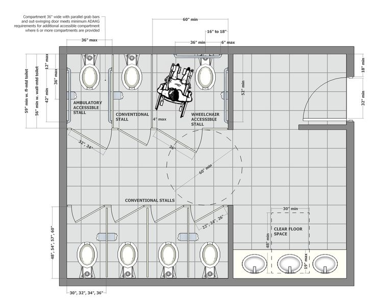 1000 images about project 3 ada bathrooms on pinterest for Commercial bathroom floor plans