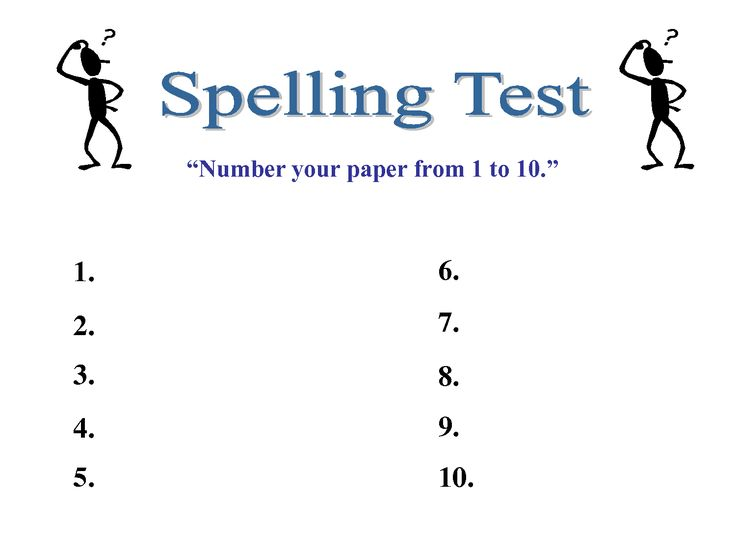 Spelling Test Template 10 Words   scope of work template