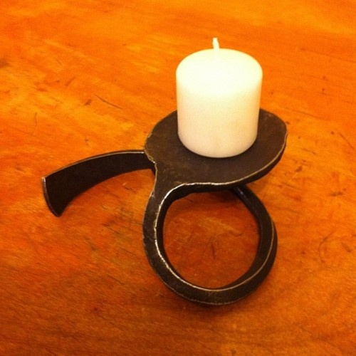 Simple candle holder | Forged Steel | Pinterest | Candles ...