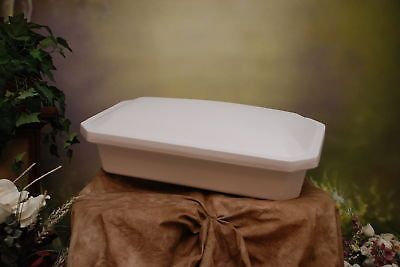 Pet Memorials and Urns 116391: Newnaks Medium 24 Economy Pet Casket White BUY IT NOW ONLY: $79.0