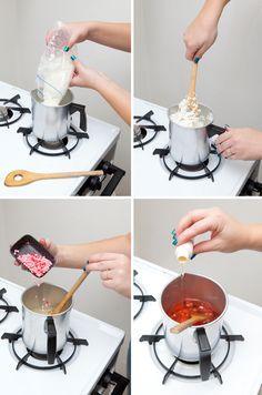 DIY   poured mason jar candle » Something Turquoise