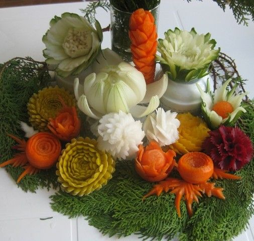 Best images about vegetable and fruit carving on