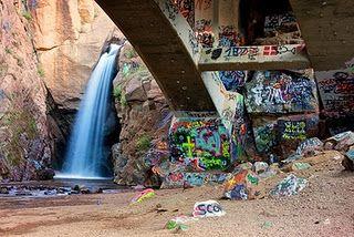 Graffiti Falls, Colorado Springs!!! loved this little hidden gem in Manitou.