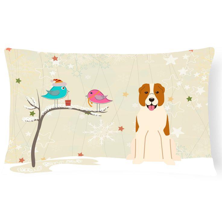 Carolines Treasures Christmas Presents Between Friends Central Asian Shepherd Dog Outdoor Pillow - BB2521PW1216