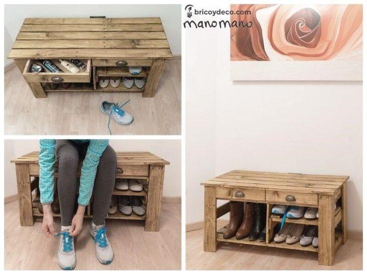 Comment fabriquer un meuble chaussures en palettes Fabriquer meuble chaussures facile