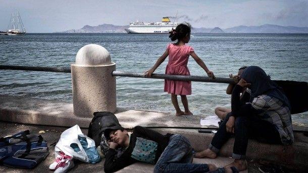 Lager unter freiem Himmel: Flüchtlinge auf der griechischen Insel Kos
