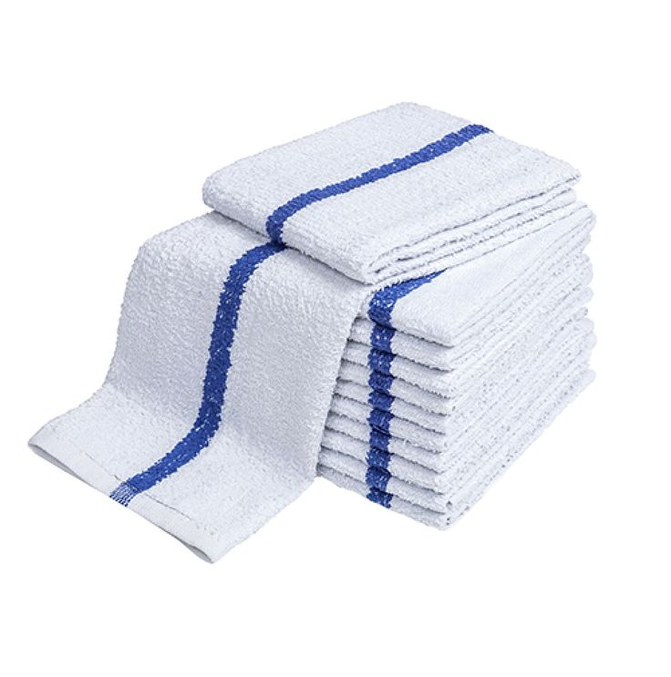 Bar Towels, Full Terry, Center Stripe