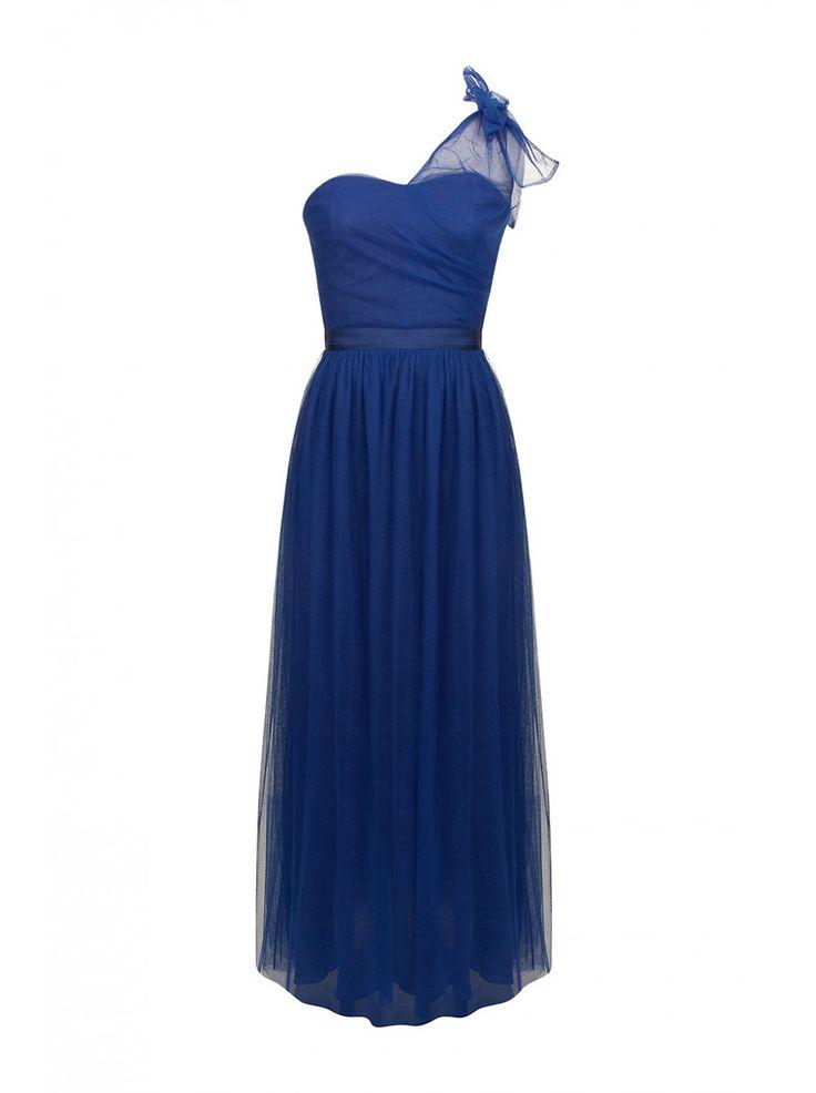 robes de mode robe longue bleu marine naf naf. Black Bedroom Furniture Sets. Home Design Ideas