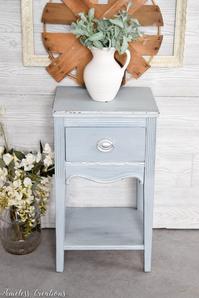 Dreamy Light Blue Side Table With Images Blue Side Table