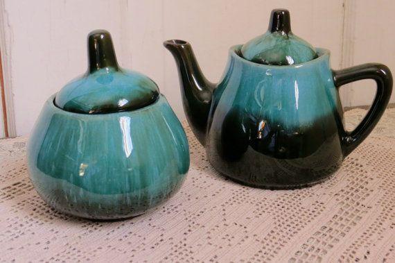 Blue Mountain Pottery crémier et sucrier par CreativeWorkStudios