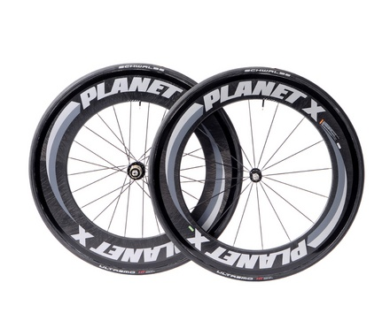 Planet-X 82/101 Tubular wheelset with fitted schwalbe ultremo HT tubular tires: $750 shipped to Canada
