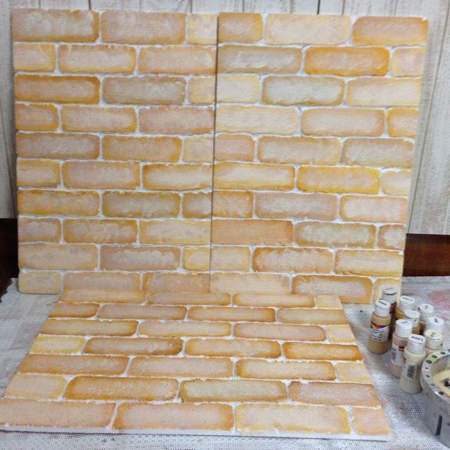 【100均DIY】発泡スチロールレンガ壁の作り方と部屋実例