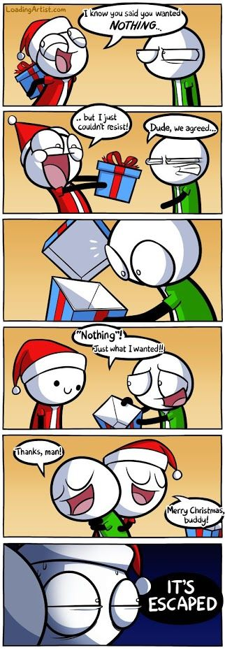 """Funny ! Merry Christmas :)) """" it's escaped """""""