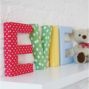 Best 25 fabric covered letters ideas on pinterest sofa for Fabric covered letters for nursery