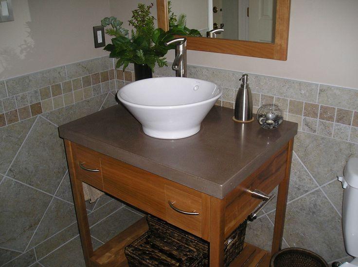Concrete Top Vanity Desk : Best masonary art images on pinterest