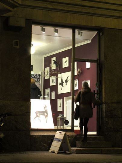 Forest Greeting Exhibition at Papershop Helsinki 2014
