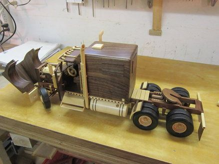 Wooden Semi Truck Plans Woodworking Projects Amp Plans