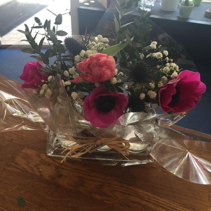 Lovely milk bottles gifts. Lotty's flowers