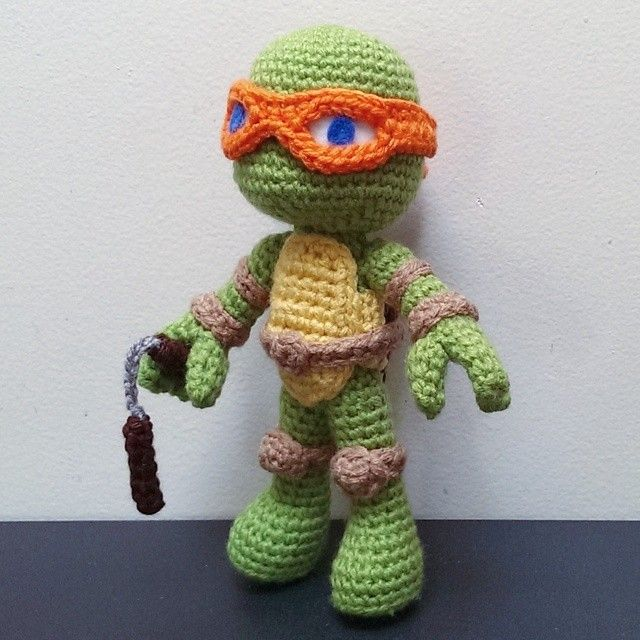 Crochet Ninja Turtle : Crochet, Teddy Bears, Crochet Dolls, Crochet Animal, Crochet ...