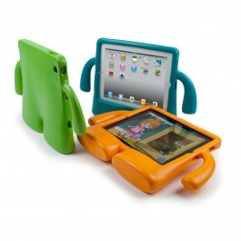 Meet iGuy - the freestanding foam case for the new iPad, iPad 2 and iPad original. Every bit as protective as he is a blast to use, iGuy is the perfect iPad accessory for kids and grownups alike. He's lightweight, easy to hold, and he can stand on his own two feet, even while holding up your iPad. He may look like he's all about fun, but his soft, squishy body disguises tough EVA foam protection. iGuy will help you feel more secure as you hand your iPad over to your baby or small child!