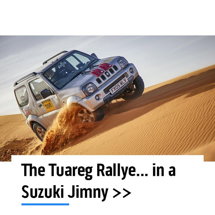 "Can a cheap, old Suzuki Jimny really go desert rallying? We took a small car to a huge desert to find out. - ""My First Rally Car knows its stuff. It has a real appetite for dusty tracks, for rocky sections, for scrubland – a real can-do attitude. Trail-brake into corners and the back will arc round, the brief wheelbase and soft suspension can be used to adjust trajectory with barely any steering input. You can build a flow with it. This much fun with just 82bhp…? // Read the full story at…"