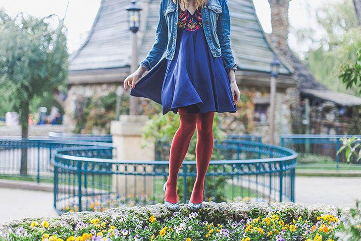 Escarpins Patricia Blanchet*, robe Asos (ancienne collection), jupon American apparel, veste H&M, collants Wolford*