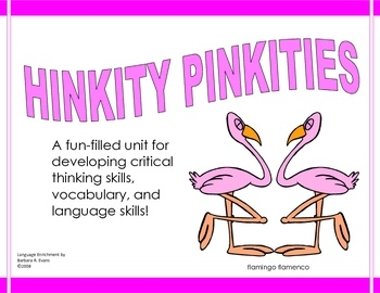 Hinkity Pinkities have long been staples in gifted education with good reason.  These riddles with rhyming answers help students learn to interpret data, make inferences, draw conclusions, and analyze new information.  Better yet, they are tons of fun!  $