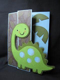 Cricut dinosaur card.